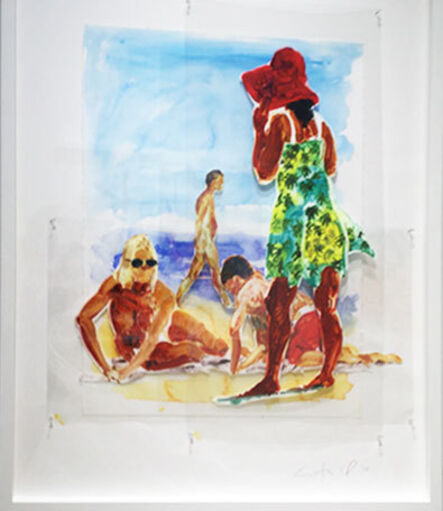 Eric Fischl, 'Untitled (Two Women and a Boy)', 2017