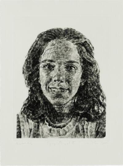 Chuck Close, 'Georgia/Fingerprint II', 1984-1985