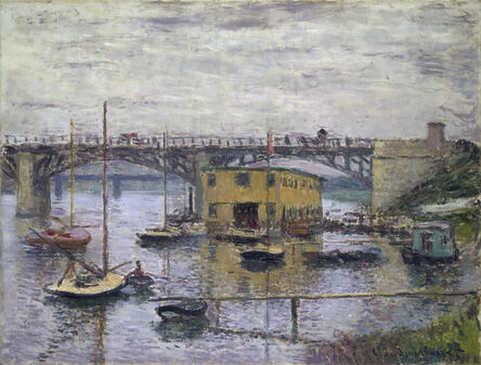 Claude Monet, 'Bridge at Argenteuil on a Gray Day', ca. 1876