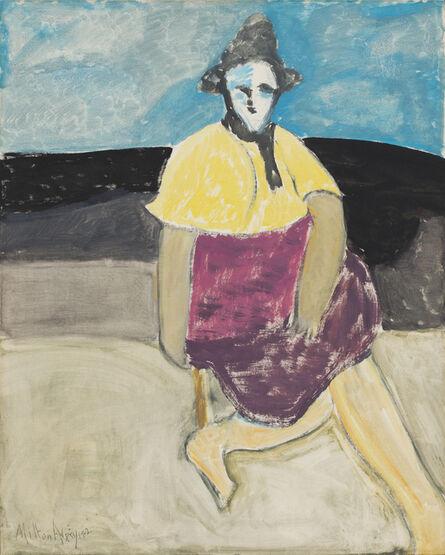 Milton Avery, 'Sally by the Sea', 1962