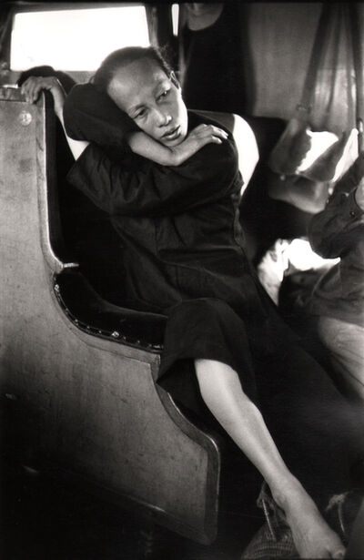 Marc Riboud, 'Peasant woman on the train.', 1957