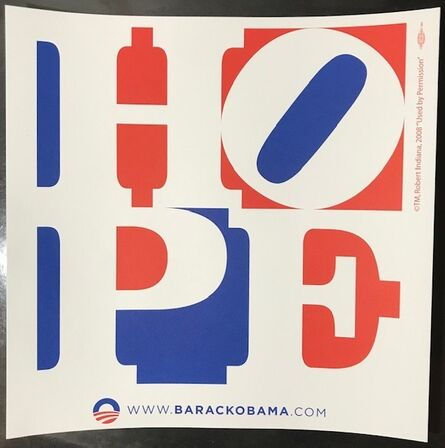 "Robert Indiana, '""HOPE""  Barack Obama Campaign ', 2008"