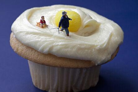 Christopher Boffoli, 'Lemon Cupcake Sledding', 2011