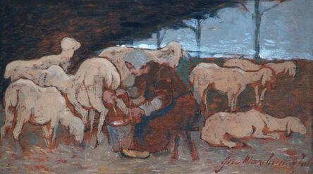 Giovanni Marchini, 'L'ora della mungitura | Milking time', 1943