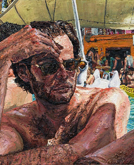 Joey Wolf, 'Jay in the pool', 2017