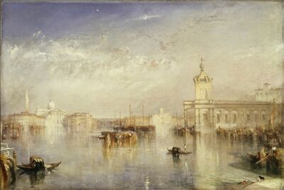 J. M. W. Turner, 'The Dogana, San Giorgio, Citella, from the Steps of the Europa', 1842