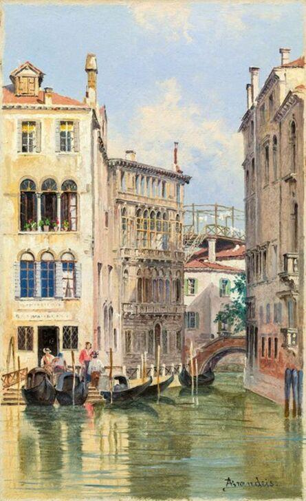 Antonietta Brandeis, 'Gondolieri in Venice', ca. 1900