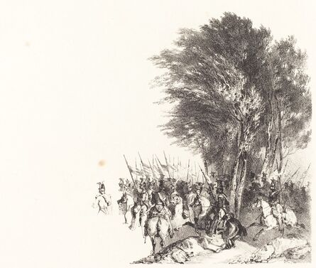 Nicolas-Toussaint Charlet, 'Lanciers en Marche (Lancers on the March)', 1831