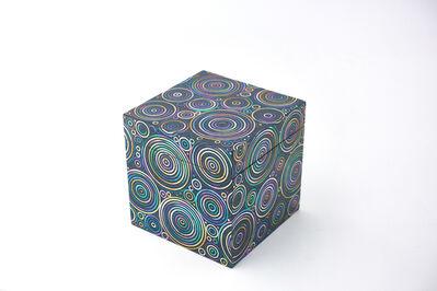 Shinya Yamamura, 'Abalone shell circular pattern lacquer cubic box', 2015