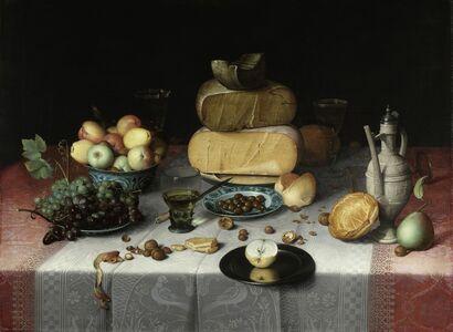 Floris Claesz van Dyck, 'Still Life with Cheese', ca. 1615