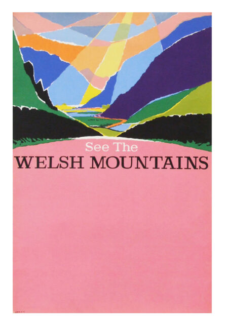 Harry Stevens, '1960s British Transport Welsh Mountains Travel Poster ', ca. 1962