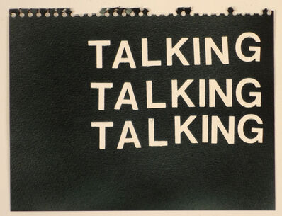 Betty Tompkins, 'Talking Talking Talking (black)'