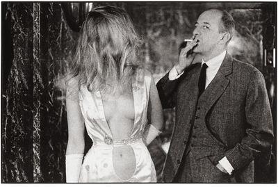 Frank Horvat, 'Paris, Alain Bernardin, owner of the Crazy Horse Saloon, with stripper', 1962