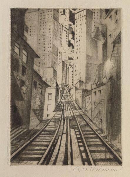 Christopher Richard Wynne Nevinson, 'New York: An Abstraction', 1921