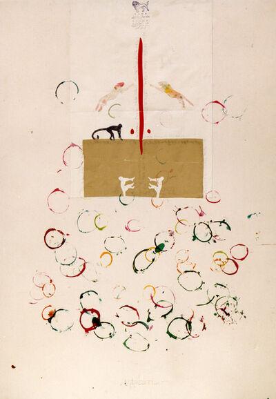 Alighiero Boetti, 'Scimmie, (Monkeys)', 1990
