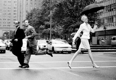 Arthur Elgort, 'Nadja Crossing Park Ave., New York, American Vogue', 1995