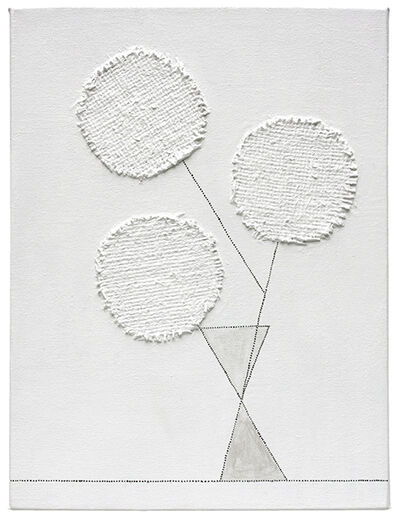 Nancy Monk, 'three round flowers', 2015