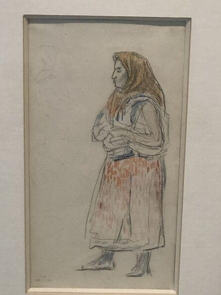 Théo van Rysselberghe, 'Paysanne, Mediterranean', 1894