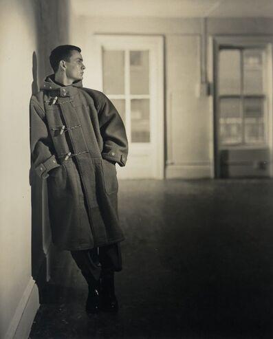 George Platt Lynes, '[Chuck Howard in Coat]', ca. 1950