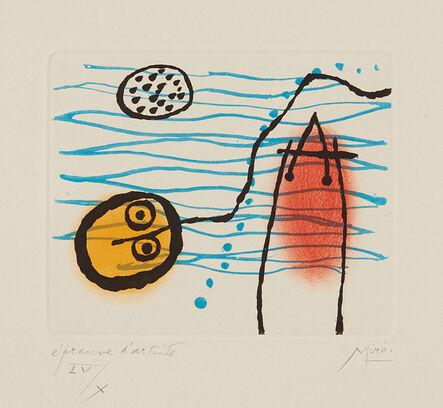 Joan Miró, 'Suite la bague d'aurore (The Ring of Dawn Suite): one plate', 1957