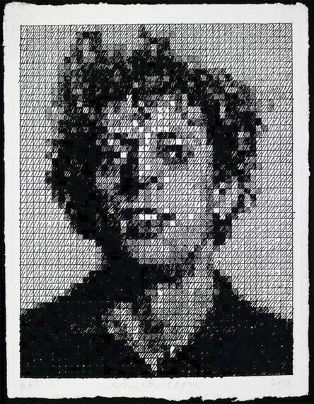 Chuck Close, 'Phil Crosshatch', 2010