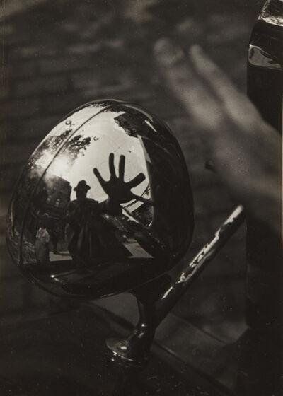 Imre Kinszki, 'Self-Portrait in Reflection of Car Headlight', circa 1934