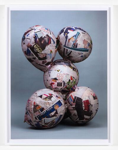 Nicolas Lobo, 'Balloon collage (Naked version #1) ', 2013