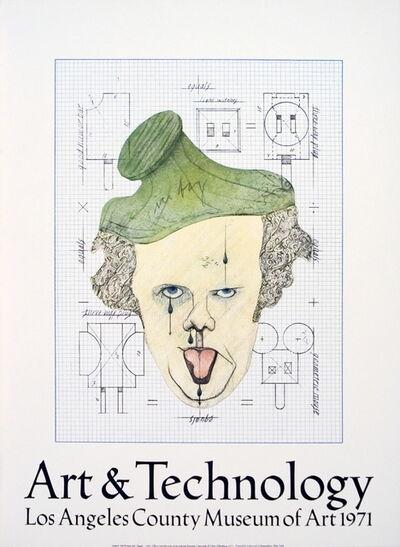 """Claes Oldenburg, 'Symbolic Self-Portrait with """"Equals""""', 1971"""