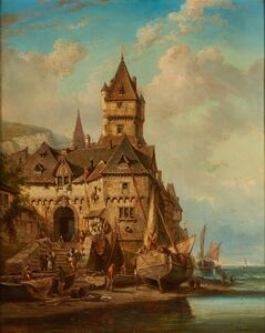 Theodore Gudin, 'Untitled (Village)'