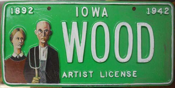Greg Constantine, 'Grant Wood Artist License Plate Pop Art', 1980-1989