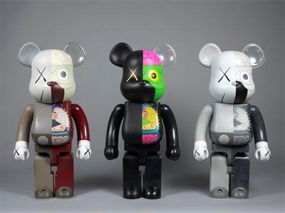 KAWS, 'KAWS Bearbrick Dissected 400% (Set of 3)', 2010