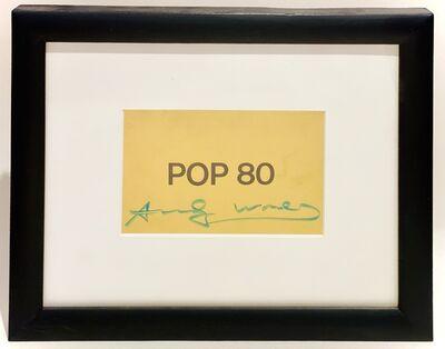 Andy Warhol, 'POP 80 Exhibition Postcard', 1980