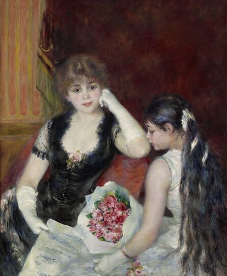 Pierre-Auguste Renoir, 'A Box at the Theater (At the Concert)', 1880