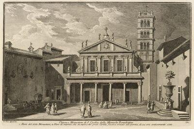 Giuseppe Vasi, 'Chiesa e monastero di S. Cecilia, delle monache benedettine', 1747-1801