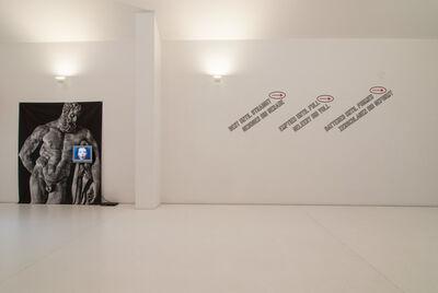 Lawrence Weiner, 'BENT UNTIL STRAIGHT / EMTIED UNTIL FULL / BATTERED UNTIL FORMED', 2011