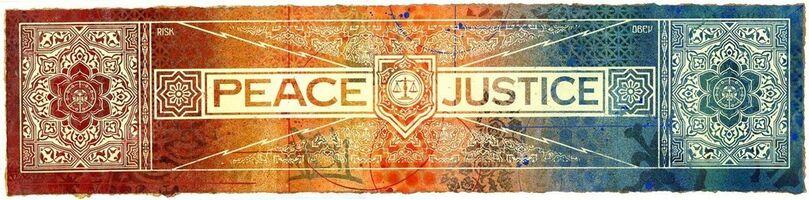 Shepard Fairey, 'Peace & Justice', 2013