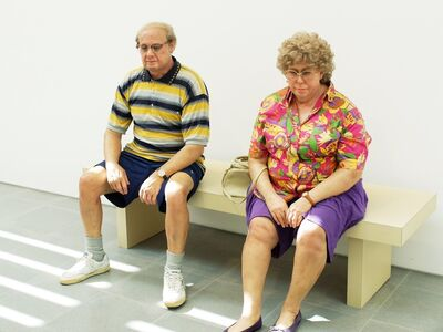Duane Hanson, 'Old Couple on a Bench', 1994