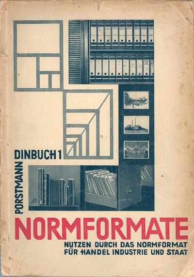 """Walter Porstmann, 'Poster """"NORMFORMATE DINBUCH 1""""', 1922"""