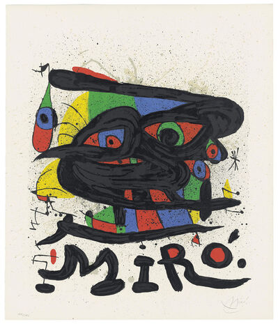Joan Miró, 'Two plates, from: Cartones', 1965