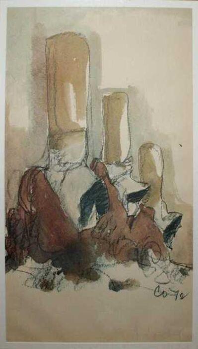 Claes Oldenburg, 'Fagends Carved in Rock Fagend Canyon', 1975