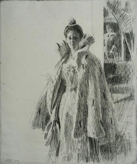 Anders Leonard Zorn, 'Princess Ingeborg I', 1900