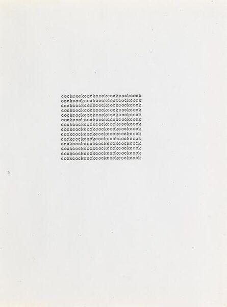 Carl Andre, 'cockcockcockcockcockcockcock', 1963