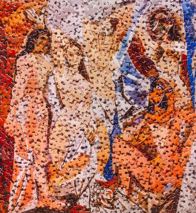 Vik Muniz, 'Les Demoiselles d'Avignon, after Pablo Picasso (Gordian Puzzles)', 2009