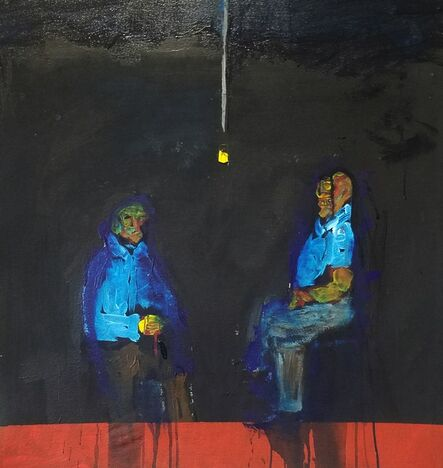 Larry Caveney, 'Gregory and Lawrence Waiting ', 2020