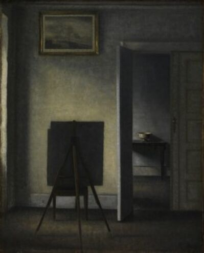 Vilhelm Hammershøi, 'Interior with the Artist's Easel', 1910