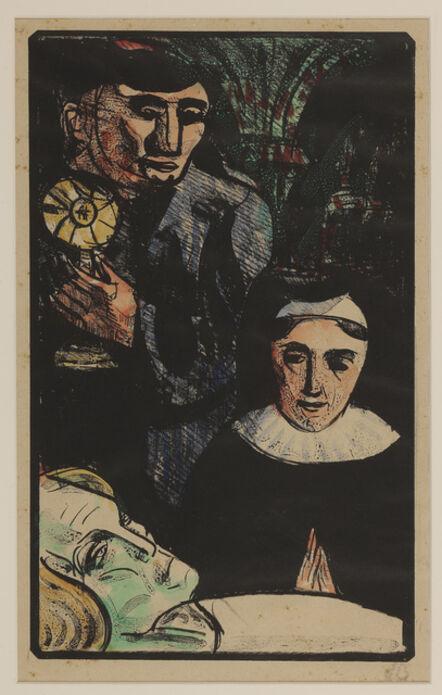 Émile Bernard, 'They come bearing the Holy Sacrament', 1891-1892