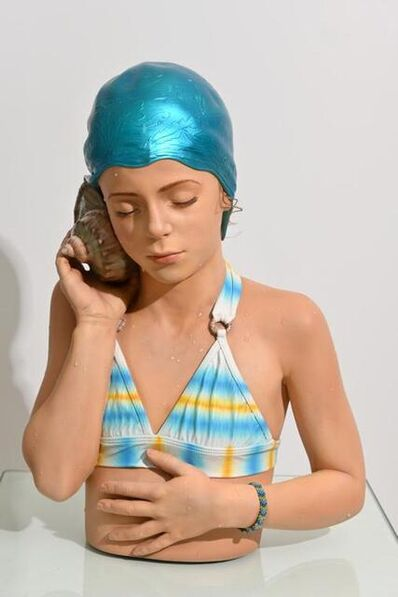 Carole A. Feuerman, 'Joelle II (Partial Life-size) - Tie Dye Suit w/ Bracelet', 2021
