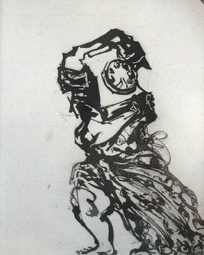 William Kentridge, 'Zeno at 4 a.m. (Woman Turning Into Telephone)', 2001