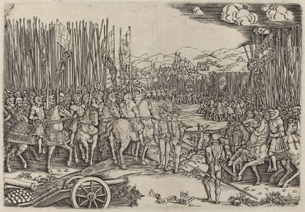 Master NA.DAT with the Mousetrap, 'The Two Armies at the Battle of Ravenna', probably c. 1512/1513