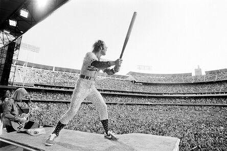 Terry O'Neill, 'Elton John Dodger Stadium, Batting', 1975